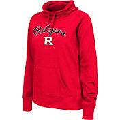 Colosseum Women's Rutgers Scarlet Knights Scarlet Funnel Neck Fleece Pullover
