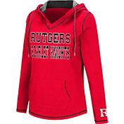 Colosseum Women's Rutgers Scarlet Knights Scarlet Spike Fleece Hoodie