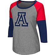 Colosseum Women's Arizona Wildcats Grey Raglan T-Shirt