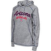Colosseum Women's Arizona Wildcats Grey Crossneck Pullover Hoodie