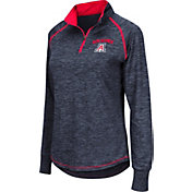 Colosseum Women's Arizona Wildcats Navy Bikram Quarter-Zip Top