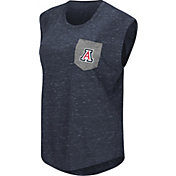 Colosseum Athletics Women's Arizona Wildcats Navy Pocket Tank Top