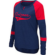 Colosseum Women's Arizona Wildcats Navy Routine Raglan Long Sleeve T-Shirt