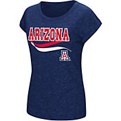 Colosseum Athletics Women's Arizona Wildcats Navy Speckled Yarn T-Shirt