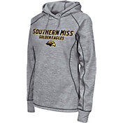 Colosseum Women's Southern Miss Golden Eagles Grey Crossneck Pullover Hoodie