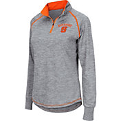 Colosseum Women's Syracuse Orange Grey Bikram Quarter-Zip Top