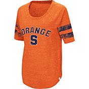 Colosseum Women's Syracuse Orange Orange Bean Babbitt Raglan T-Shirt