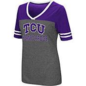 Colosseum Women's TCU Horned Frogs Grey McTwist Jersey T-Shirt