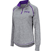 Colosseum Women's TCU Horned Frogs Grey Bikram Quarter-Zip Top