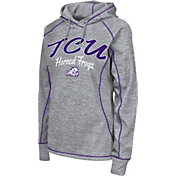 Colosseum Women's TCU Horned Frogs Grey Crossneck Pullover Hoodie