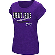 Colosseum Athletics Women's TCU Horned Frogs Purple Speckled Yarn T-Shirt