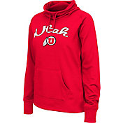 Colosseum Women's Utah Utes Crimson Funnel Neck Fleece Pullover