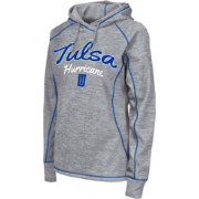 Colosseum Women's Tulsa Golden Hurricane Grey Crossneck Pullover Hoodie