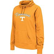 Colosseum Women's Tennessee Volunteers Tennessee Orange Funnel Neck Fleece Pullover
