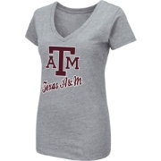 Colosseum Women's Texas A&M Aggies Grey Dual Blend V-Neck T-Shirt