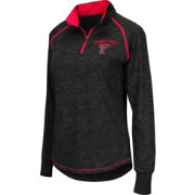 Colosseum Women's Texas Tech Red Raiders Black Bikram Quarter-Zip Top