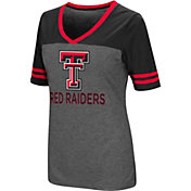 Colosseum Women's Texas Tech Red Raiders Grey McTwist Jersey T-Shirt