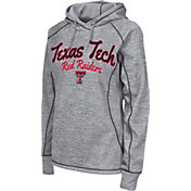 Colosseum Women's Texas Tech Red Raiders Grey Crossneck Pullover Hoodie