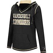 Colosseum Women's Vanderbilt Commodores Black Spike Fleece Hoodie