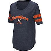 Colosseum Women's Virginia Cavaliers Blue Bean Babbitt Raglan T-Shirt