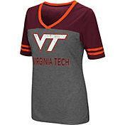 Colosseum Women's Virginia Tech Hokies Grey McTwist Jersey T-Shirt