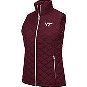 Colosseum Women's Virginia Tech Hokies Maroon Elite Quilted Full-Zip Vest