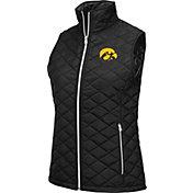 Colosseum Women's Iowa Hawkeyes Black Elite Quilted Full-Zip Vest