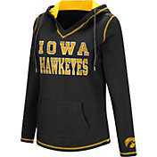 Colosseum Women's Iowa Hawkeyes Black Spike Fleece Hoodie