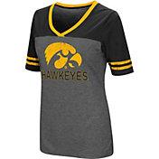 Colosseum Women's Iowa Hawkeyes Grey McTwist Jersey T-Shirt