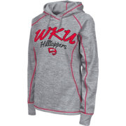 Colosseum Women's Western Kentucky  Hilltoppers Grey Crossneck Pullover Hoodie