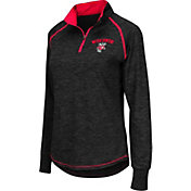 Colosseum Women's Wisconsin Badgers Black Bikram Quarter-Zip Top
