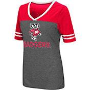 Colosseum Athletics Women's Wisconsin Badgers McTwist Jersey T-Shirt