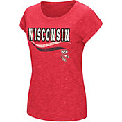 Colosseum Athletics Women's Wisconsin Badgers Red Speckled Yarn T-Shirt