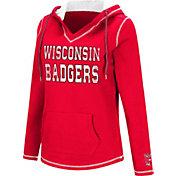 Colosseum Women's Wisconsin Badgers Red Spike Fleece Hoodie