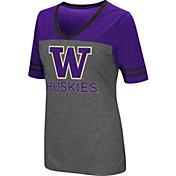 Colosseum Women's Washington Huskies Grey McTwist Jersey T-Shirt