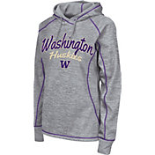 Colosseum Women's Washington Huskies Grey Crossneck Pullover Hoodie