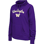 Colosseum Women's Washington Huskies Purple Funnel Neck Fleece Pullover