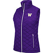 Colosseum Women's Washington Huskies Purple Elite Quilted Full-Zip Vest