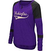 Colosseum Women's Washington Huskies Purple Routine Raglan Long Sleeve T-Shirt