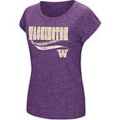 Colosseum Athletics Women's Washington Huskies Purple Speckled Yarn T-Shirt
