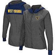 Colosseum Women's West Virginia Mountaineers Charcoal Backside Hooded Jacket