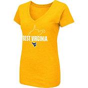 Colosseum Women's West Virginia Gold 'Best Virginia' Dual Blend V-Neck T-Shirt