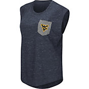 Colosseum Athletics Women's West Virginia Mountaineers Blue Pocket Tank Top