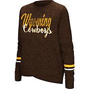 Colosseum Women's Wyoming Cowboys Brown Birdie Fleece Pullover
