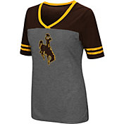 Colosseum Women's Wyoming Cowboys Grey McTwist Jersey T-Shirt