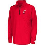 Colosseum Youth Cincinnati Bearcats Red Draft Performance Quarter-Zip