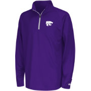 Colosseum Youth Kansas State Wildcats Purple Draft Performance Quarter-Zip