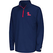 Colosseum Youth Ole Miss Rebels Blue Draft Performance Quarter-Zip