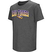 Colosseum Youth LSU Tigers Grey  Dual Blend T-Shirt