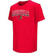 Colosseum Youth Louisville Cardinals Cardinal Red Dual Blend T-Shirt